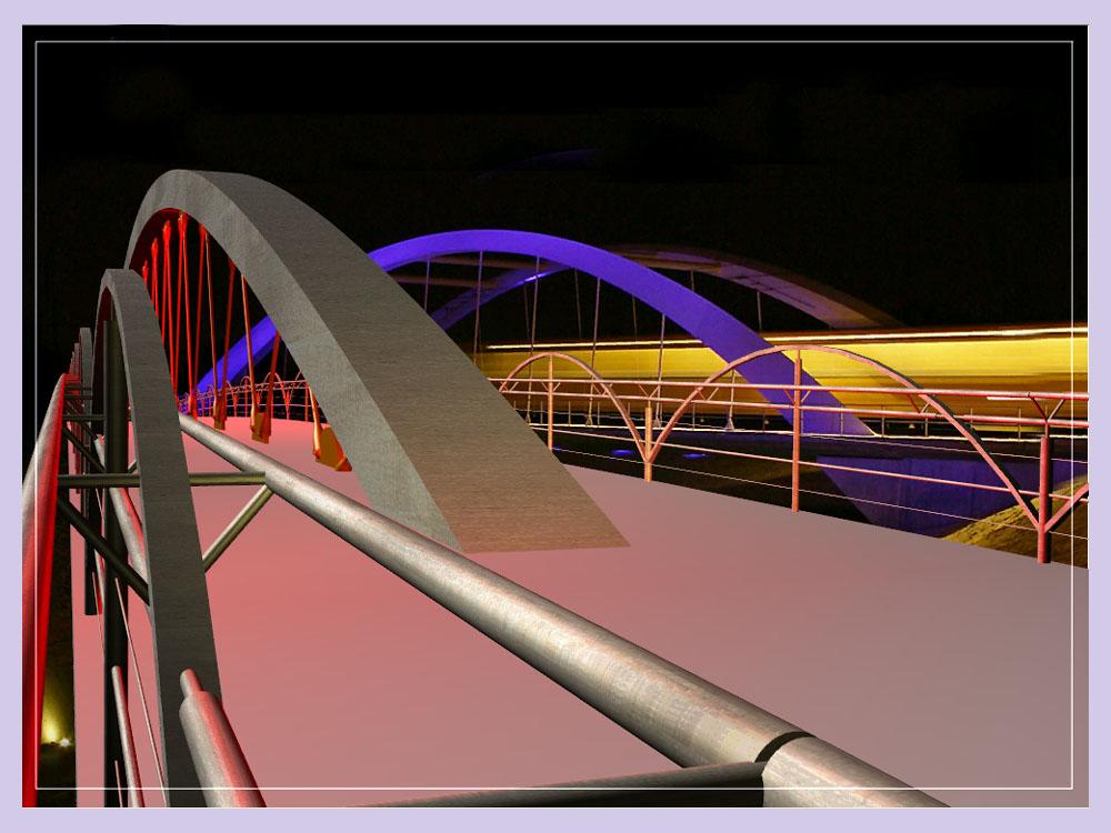 Entwurf einer Fußängerbrücke in Anlehnung an die Hoge Brug