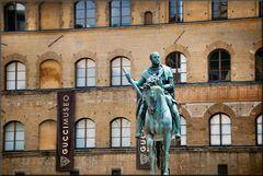 Equestrian statue of Cosimo the elder, after Giovnni di Bologna.