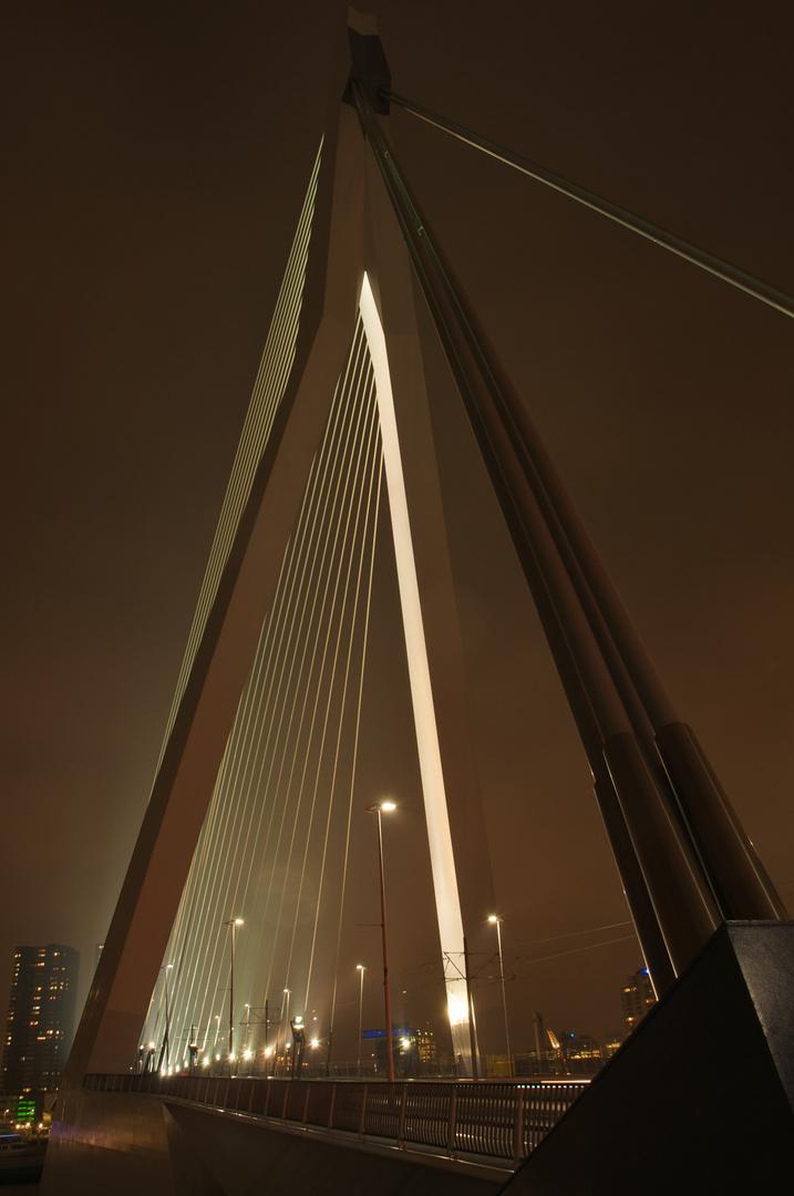 Erasmusbrücke Rotterdam bei Nacht