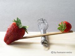 Erdbeeren in Balance