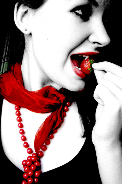 Erdbeerfeld Vampir