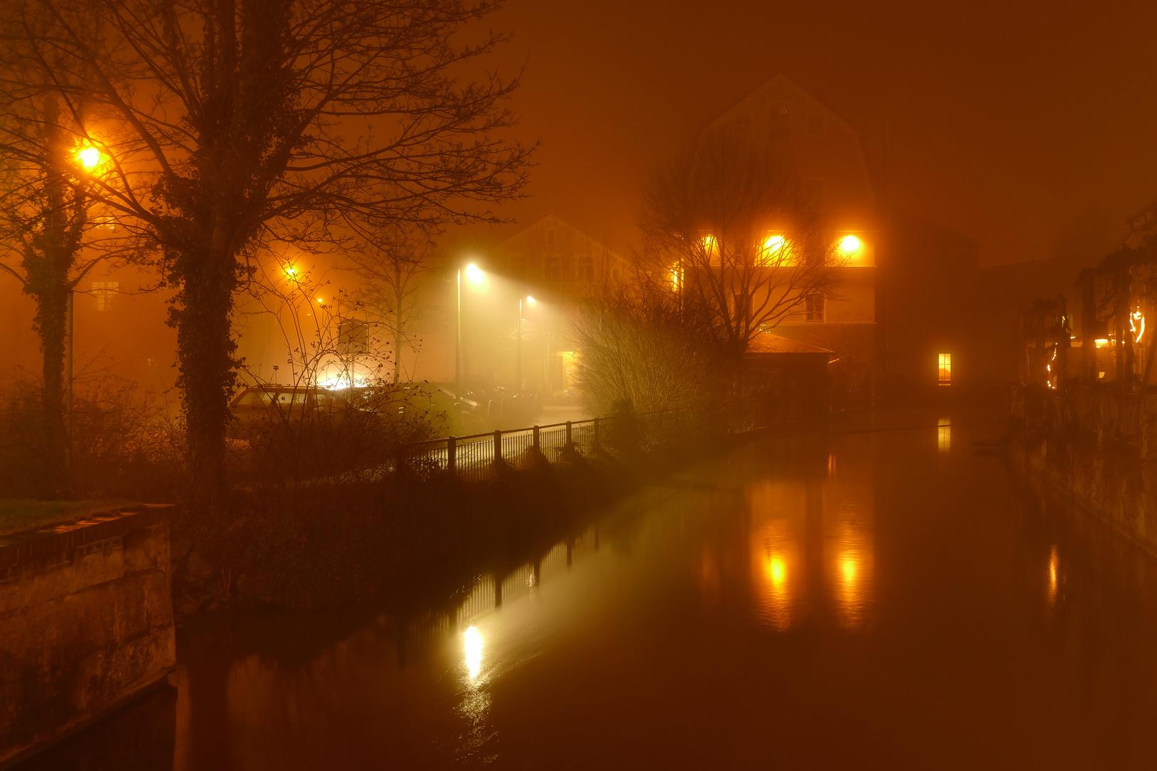 Erding im Nebel