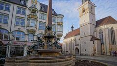"""Erfurt, am Angerbrunnen (Erfurt, el fuente """"Anger"""")"""