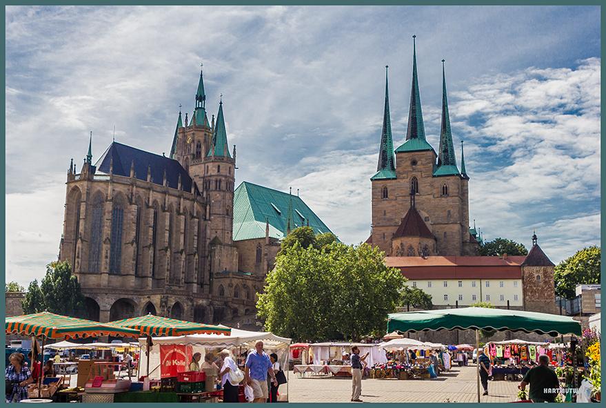 Erfurt - Dom mit Markt