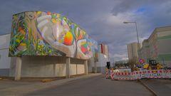 Erfurt, ein tolles Wandbild (Erfurt, un mural fantástico)