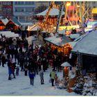 Erfurt, Plaza de la catedral, mercado navideño (Domplatz, Weihnachtsmarkt)