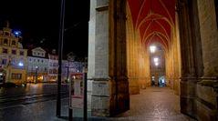 Erfurt, Rathaus, nachts (Erfurt, ayuntamiento, por la noche)