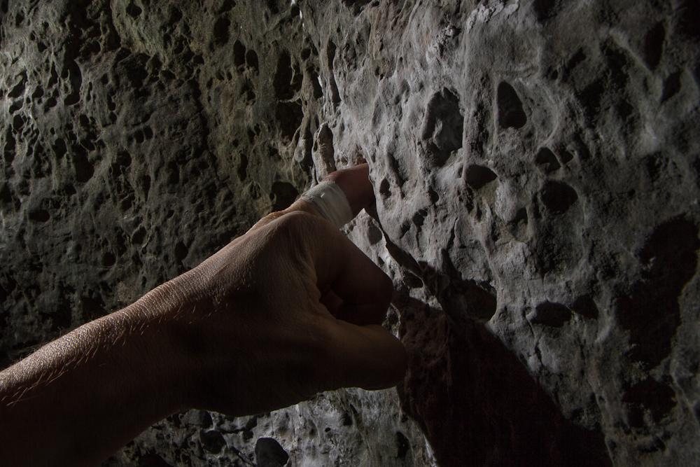 Ergonomischer Klettergriff in Franken