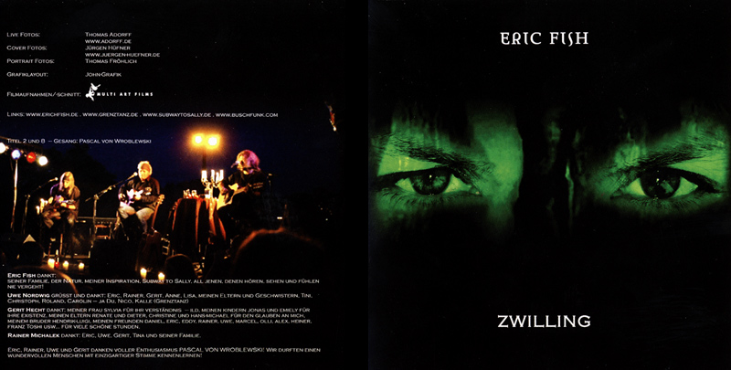 Eric Fish - Zwilling CD