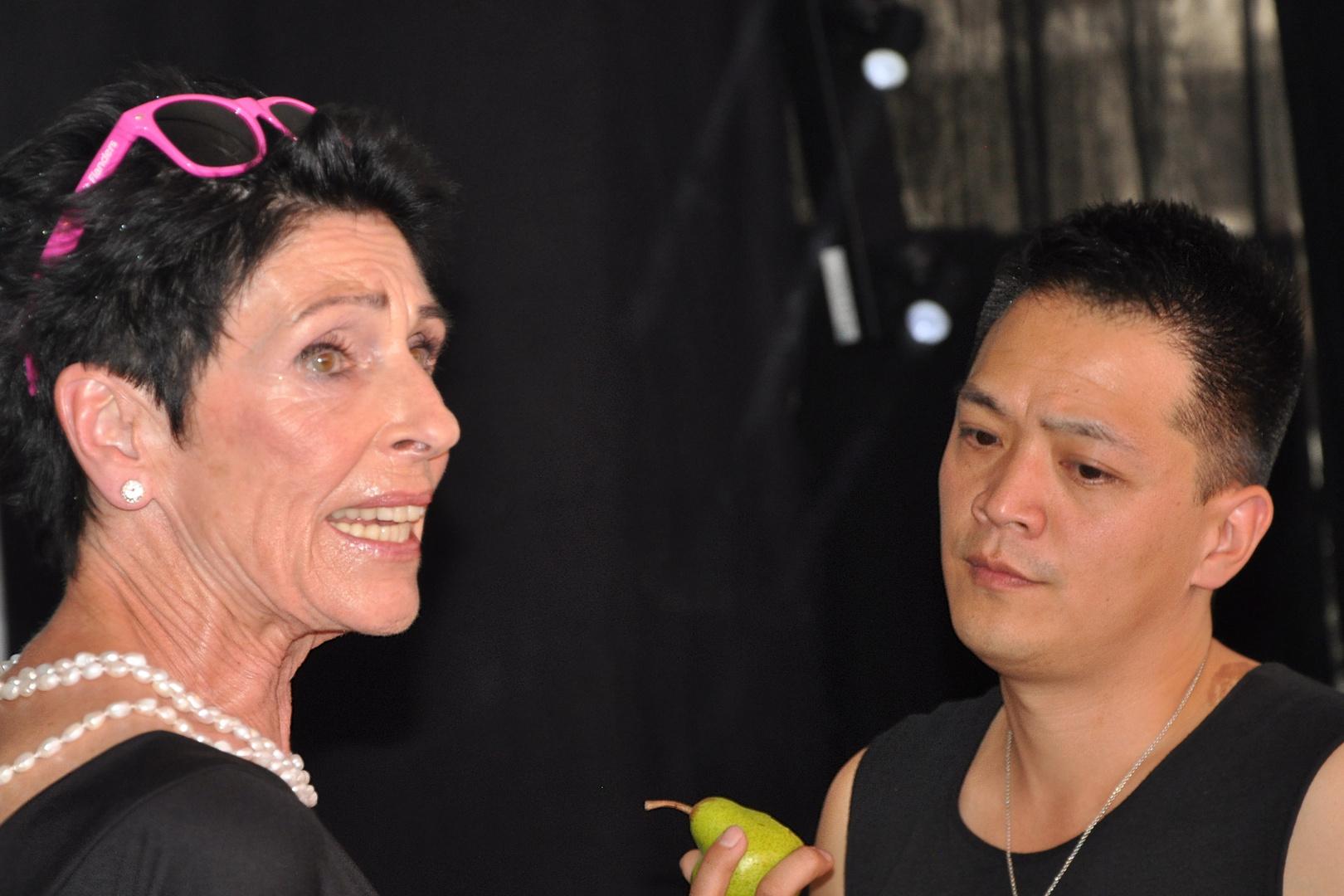 Erika Berger und Designer Chang Köln