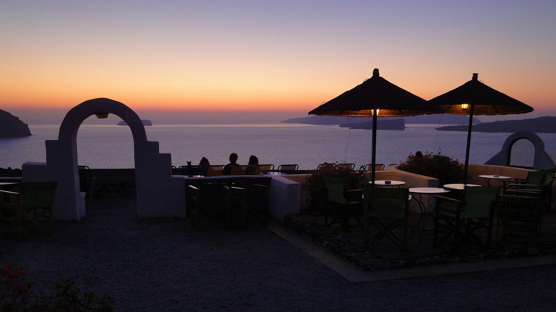 Erinnerung an schöne Abende auf Santorini