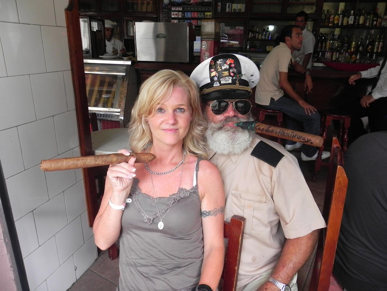 Ernest Hemingway Double in Havanna