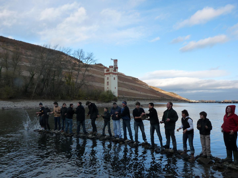 Eroberung des Mäuseturms bei Bingen am Rhein