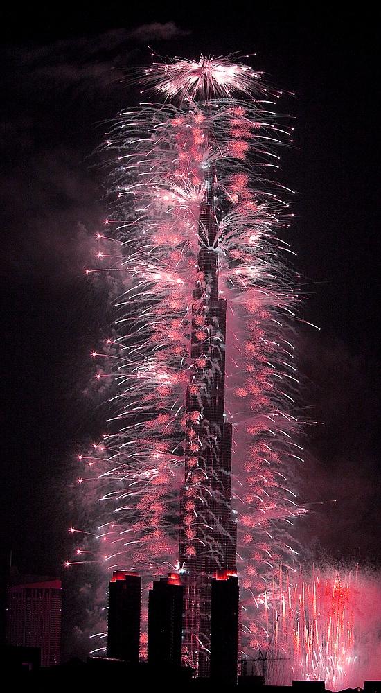 Eröffnung des Burj Kalifa am 4. Januar 2010