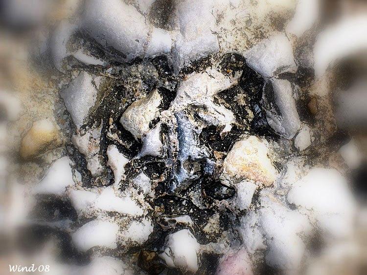 Erosion of a rock