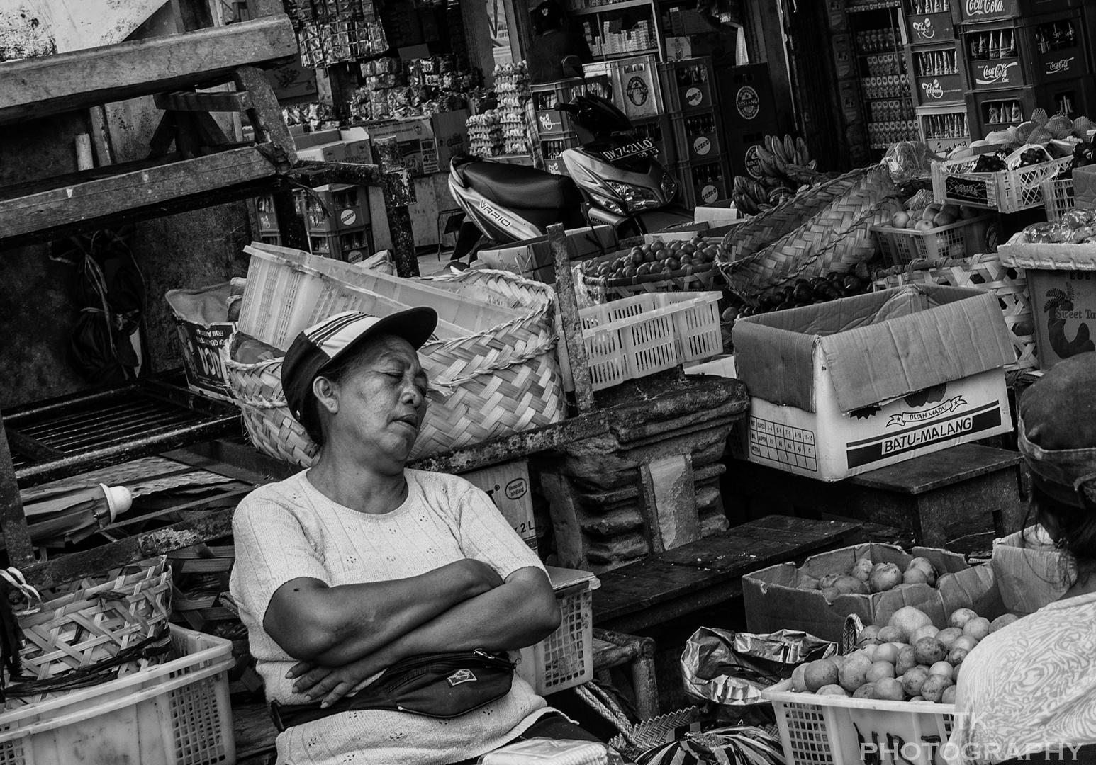 Erschöpfung auf Bali