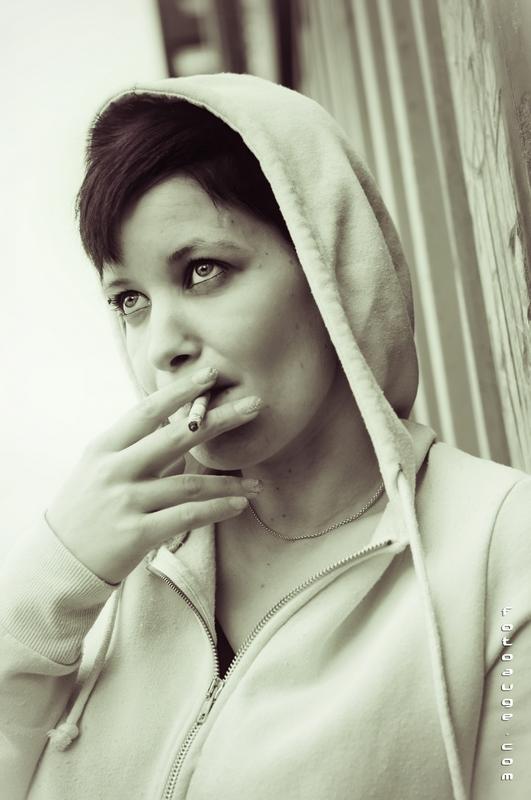 erst mal eine Rauchen