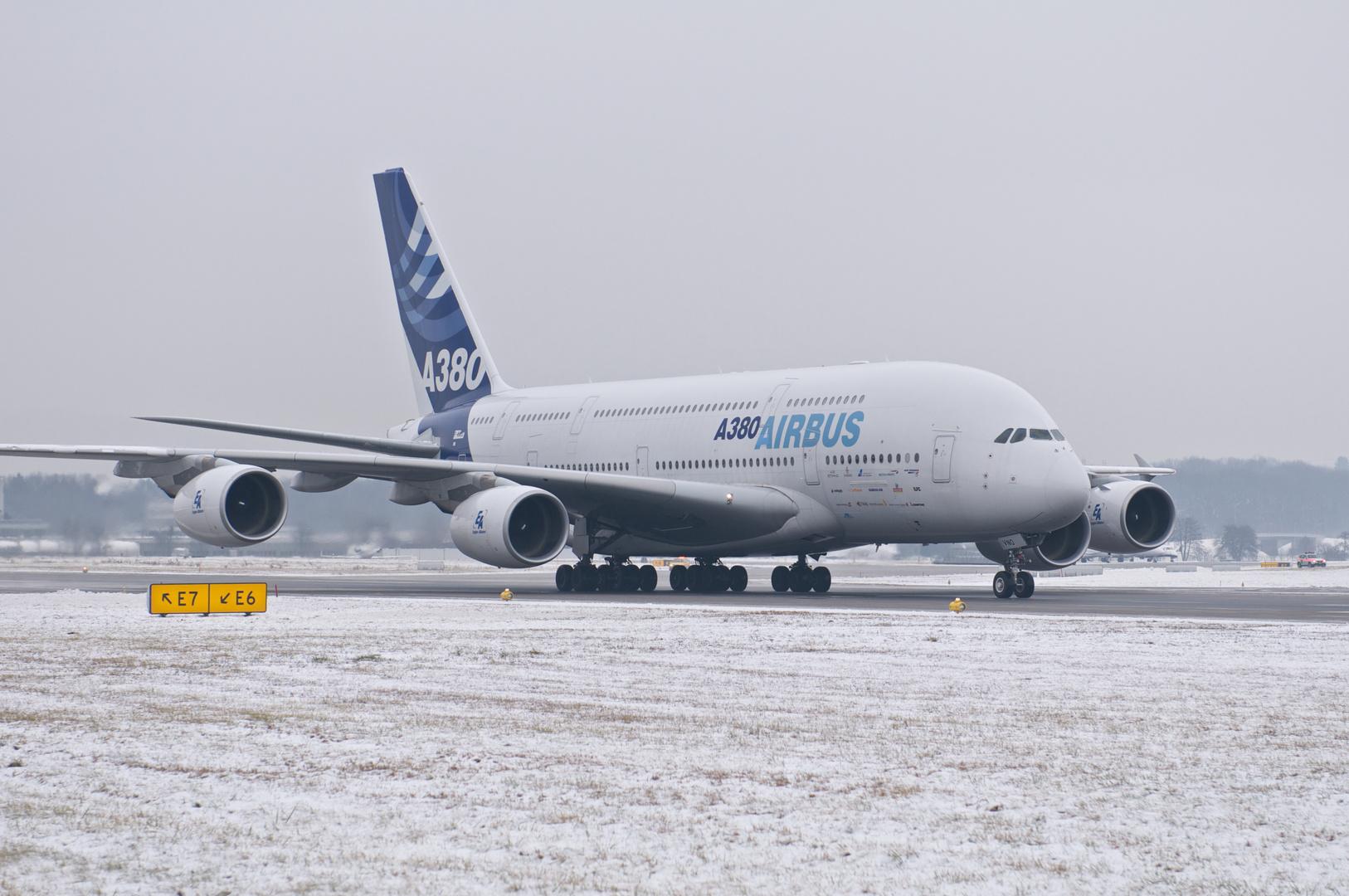 Erstbesuch A380 in Zürich