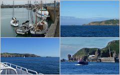 erste Blicke auf die Insel Sark
