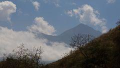 Erster Blick auf den Mount Meru