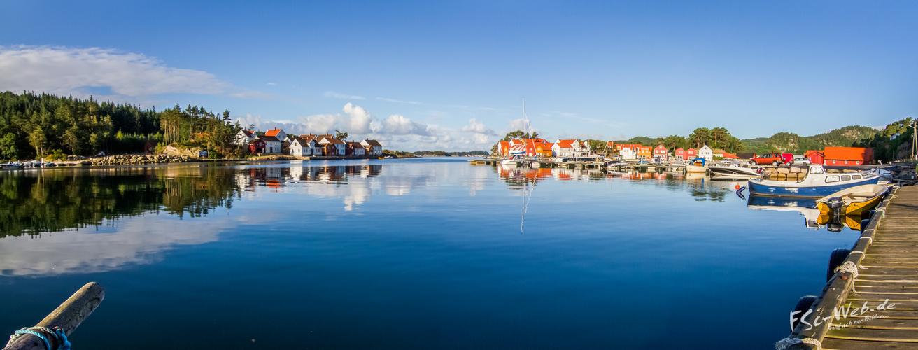 Erster Morgen in Norwegen