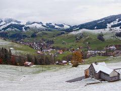 Erster Schnee im Appenzellerland