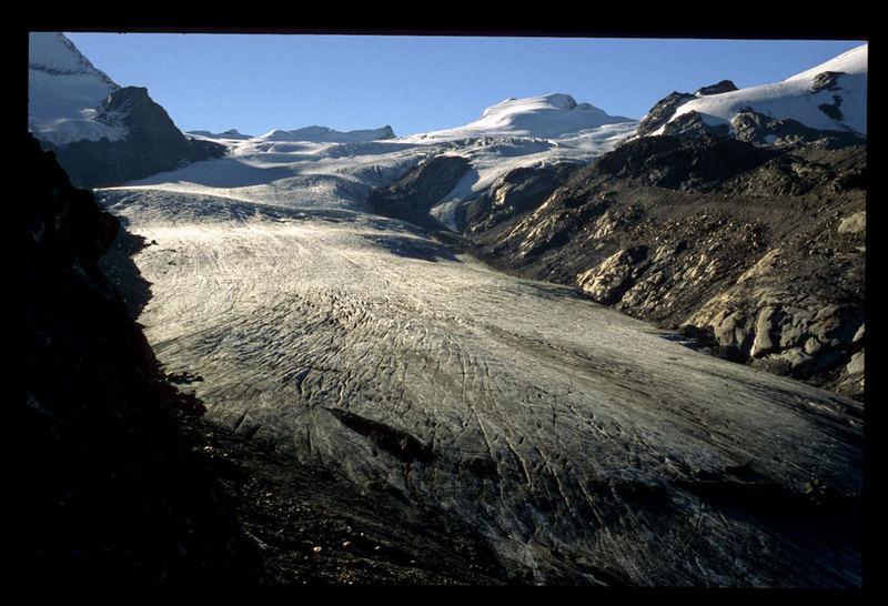 Erstes Licht auf dem Findelgletscher (Wallis)