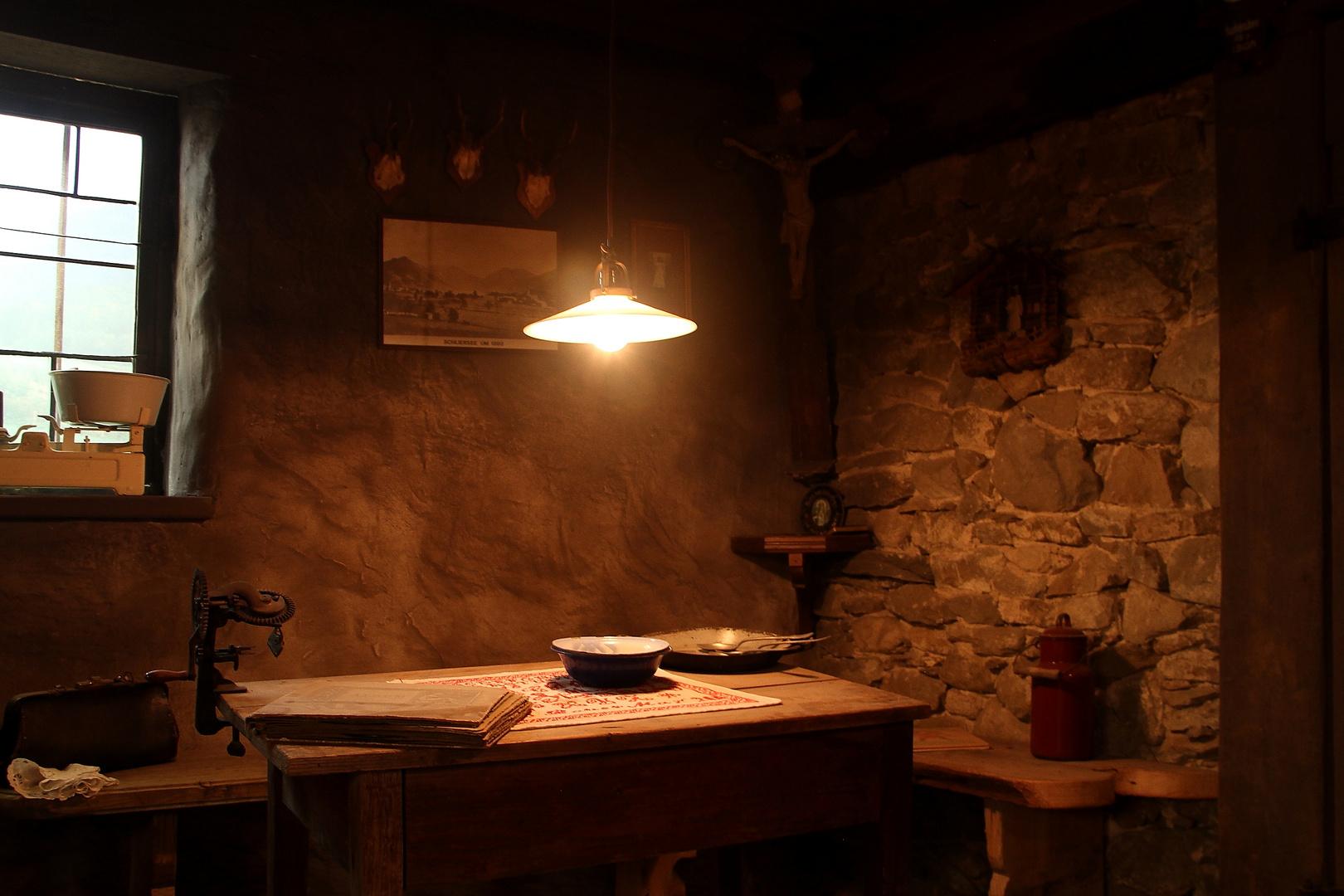 Erstes Licht in der Küche