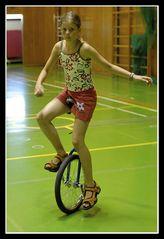 Es geht auch mit einem Rad ...