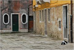 Es gibt auch ruhige Ecken in Venedig ...