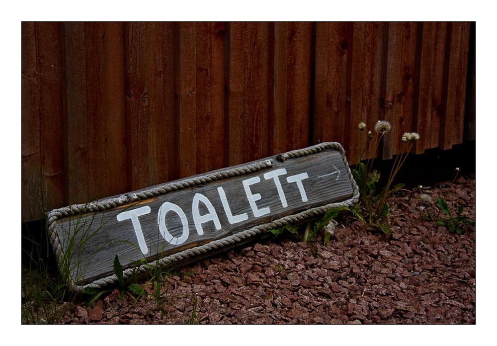 Es ist immer gut zu wissen, dass es in der Nähe eine Toilette hat