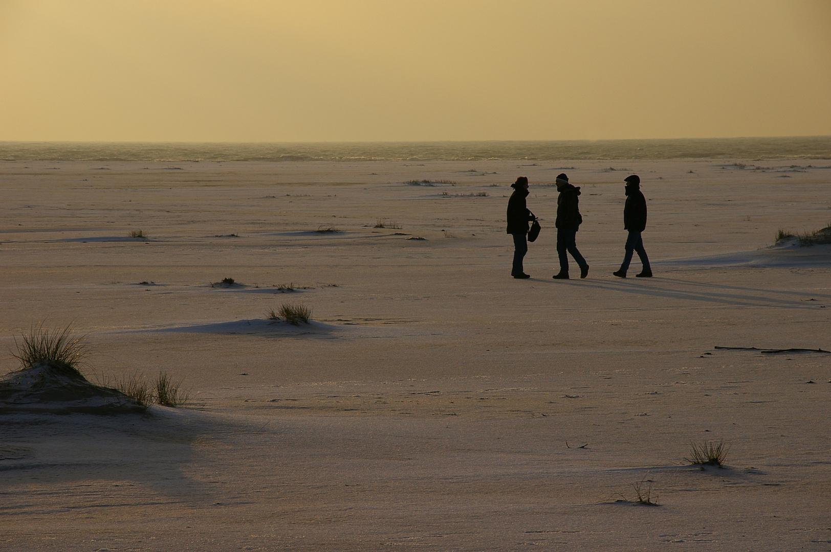 Es ist keine Marslandung, sondern nur Winter an der Nordsee