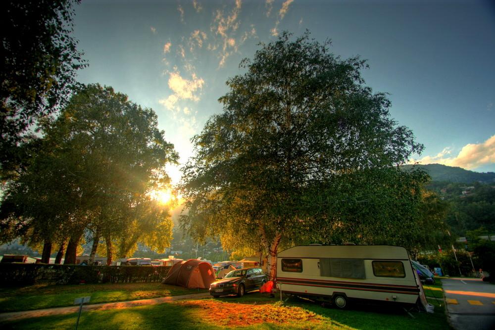 Es lässt sich leben auf dem Campingplatz.....