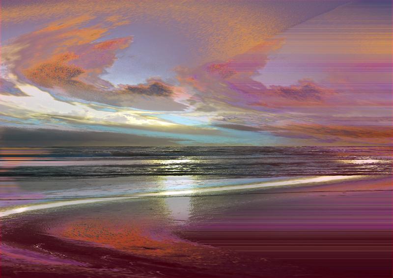 Es tat sich das Meer auf und der Himmel spielt dazu.