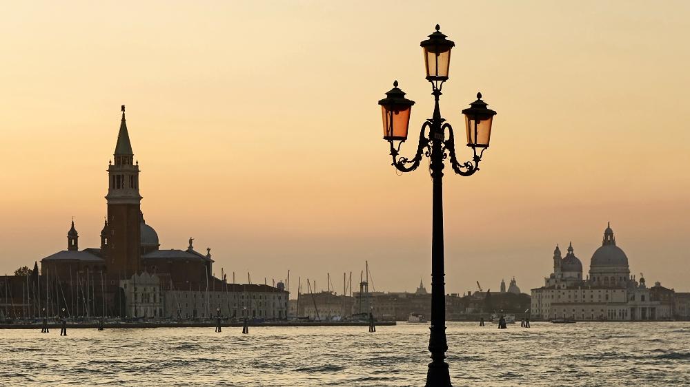 Es wird Abend in Venedig