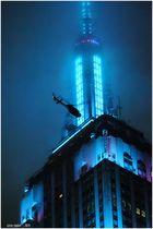 ESB Night No.11 - Spire and Chopper on a Misty Night