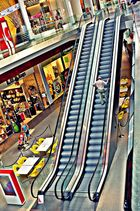 Escalator dans la Médiacité