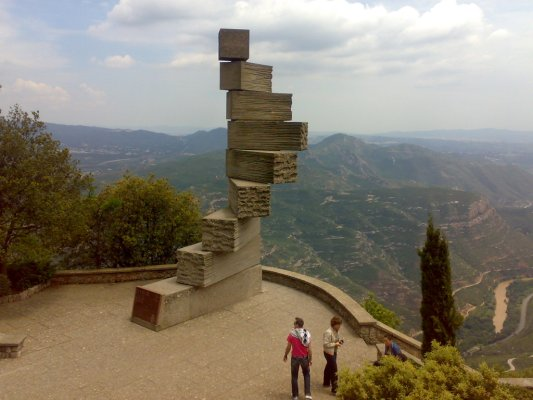 Escalera,Basilica de Montserrat