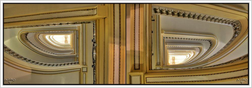 Escaleras del Circulo de Bellas Artes, Madrid. 2 HDR (3 Img.) GKM5-I