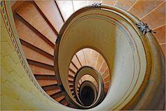 escalier Barozzi  en regardant vers le bas....