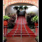 Escalinata en rojo