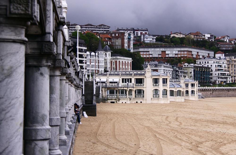 Escenografia en la playa.