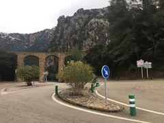 Escorca - beim Aquädukt ist der Abzweig ...