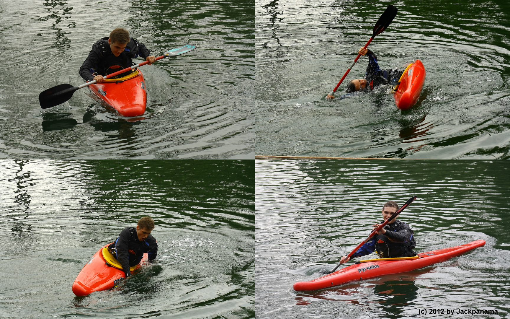 Eskimorolle eines Kanuten Foto & Bild   sport, wassersport, im unter-wasser  Bilder auf fotocommunity