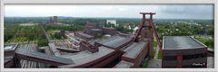 Essen - Zeche Zollverein - Blick vom oberen Turm der Zeche - 2