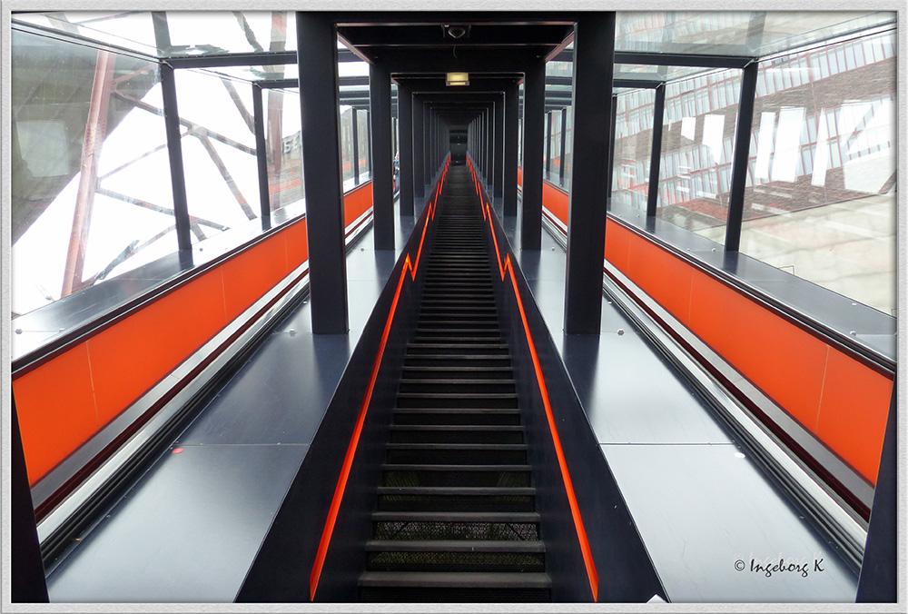 Essen - Zeche Zollverein - Treppe zur Kohlenwäsche -