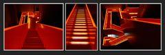 Essen - Zeche Zollverrein - Treppenanlage zwischen den Etagen -