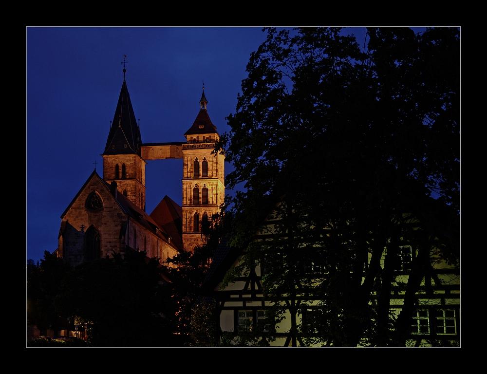 Esslingen/Neckar bei Nacht