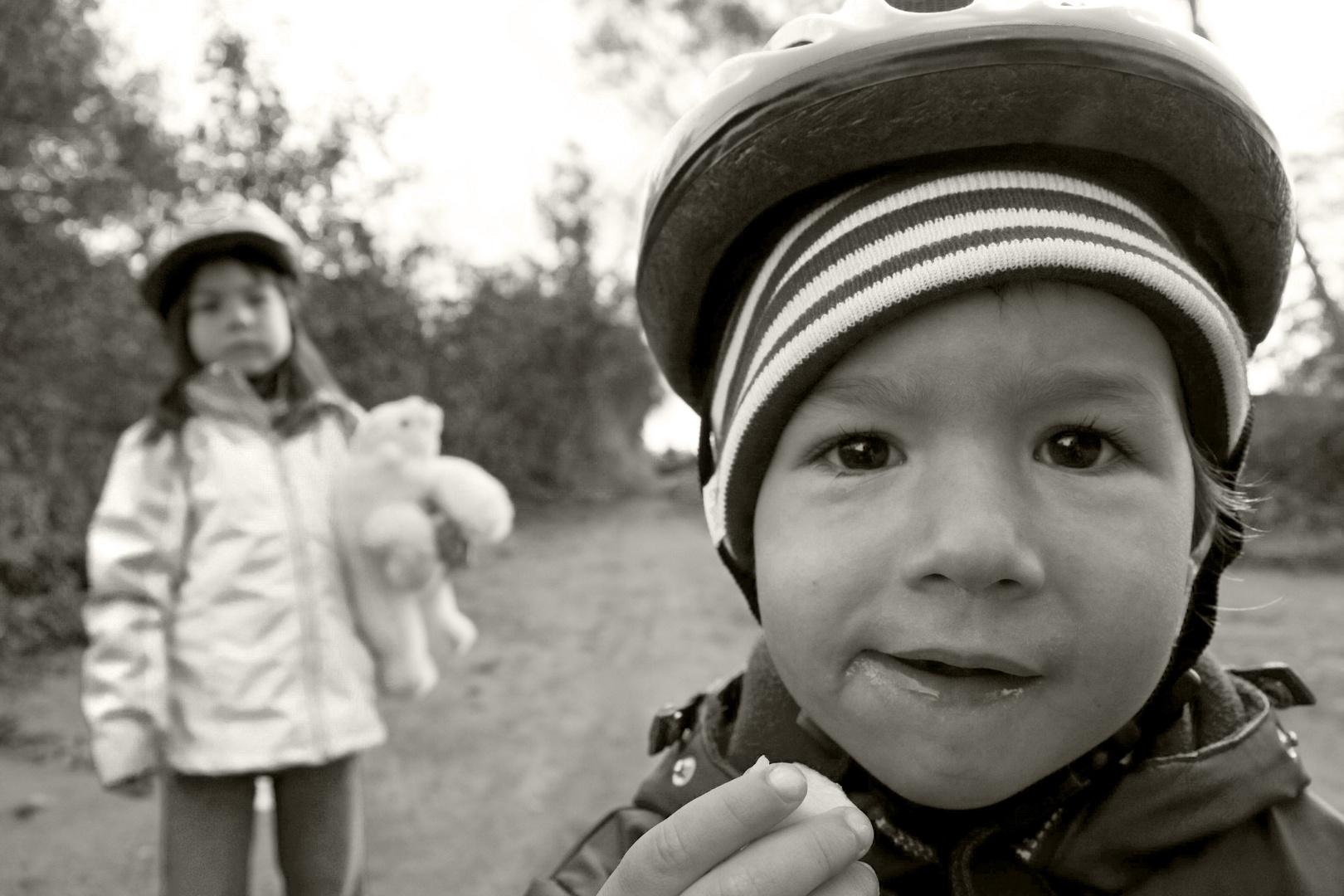 Esspause während der Fahrradtour