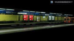 Estación de subte 3d